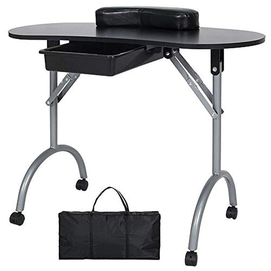磁石胴体収まるFMEZYネイルテーブルマニキュアテーブル製品ポータブルマニキュア折りたたみデスクワークステーション付きキャリングバッグ