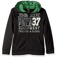 John Deere Boys Fleece Zip Poly Hoody Long Sleeve Hooded Sweatshirt