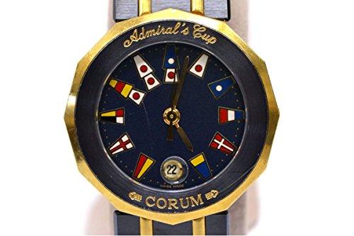 コルム 39.610.31 アドミラルズカップ 腕時計 K18 クオーツ ガンブルー SS 国旗 レディース b215492847 中古