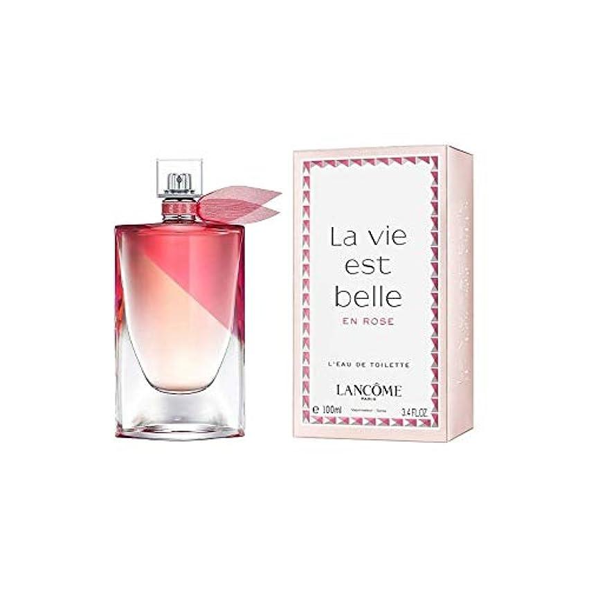 鈍い松明最後のランコム La Vie Est Belle En Rose L'Eau De Toilette Spray 100ml/3.4oz並行輸入品