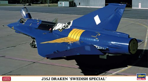 ハセガワ 1/72 飛行機シリーズ J35Jドラケン スウェーデン スペシャル 2機セット