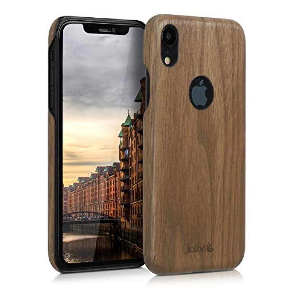 収まる再開パプアニューギニアkalibri Apple iPhone XR 用 ケース - 超スリム ウッド スマホカバー - 木製 携帯 保護ケース アイフォン