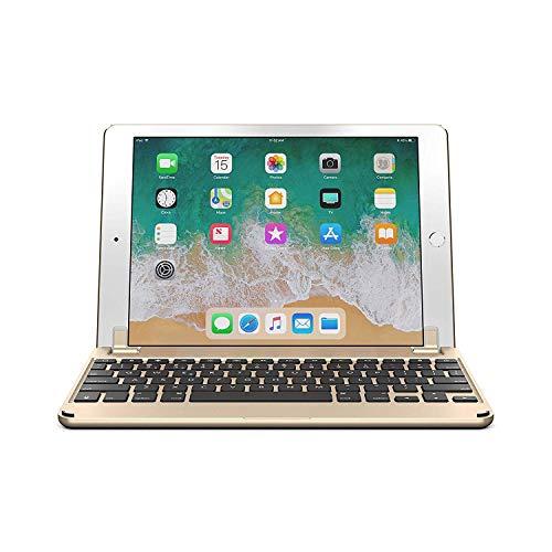 Brydge iPad Air Air 2 & iPad Pro (9.7インチ) 用 Bluetooth ワイヤレス 一体化型 アルミニウム キーボード ケース ゴールド