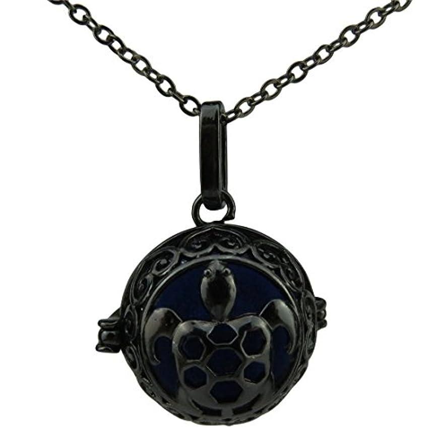 ブラックSea Turtle Tortoiseロケットネックレス、Essential Oil Diffuser、グローin theダークビーズfor Kid , for Girls