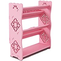 YANFEI 3階建てシューズラックシンプルな家庭用スペース省スペース型ドミトリーバルコニー (色 : Pink)