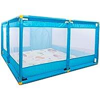 軽量プレイペンブルーチャイルドセーフティアクティビティセンター赤ちゃん用フェンス新生児ガールズプレイペン(マット付き)