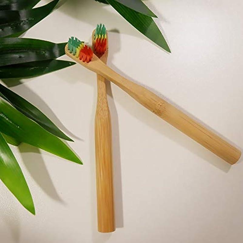 アナロジー確立利用可能SODAOA屋 8個セット 竹製 カラフル 歯ブラシセット 柔らかい 剛毛 子供 大人 木製 歯ブラシ 歯科心配環境に優しい BPAフリー 旅行用 可愛い シンプル クリスマスギフト 便利