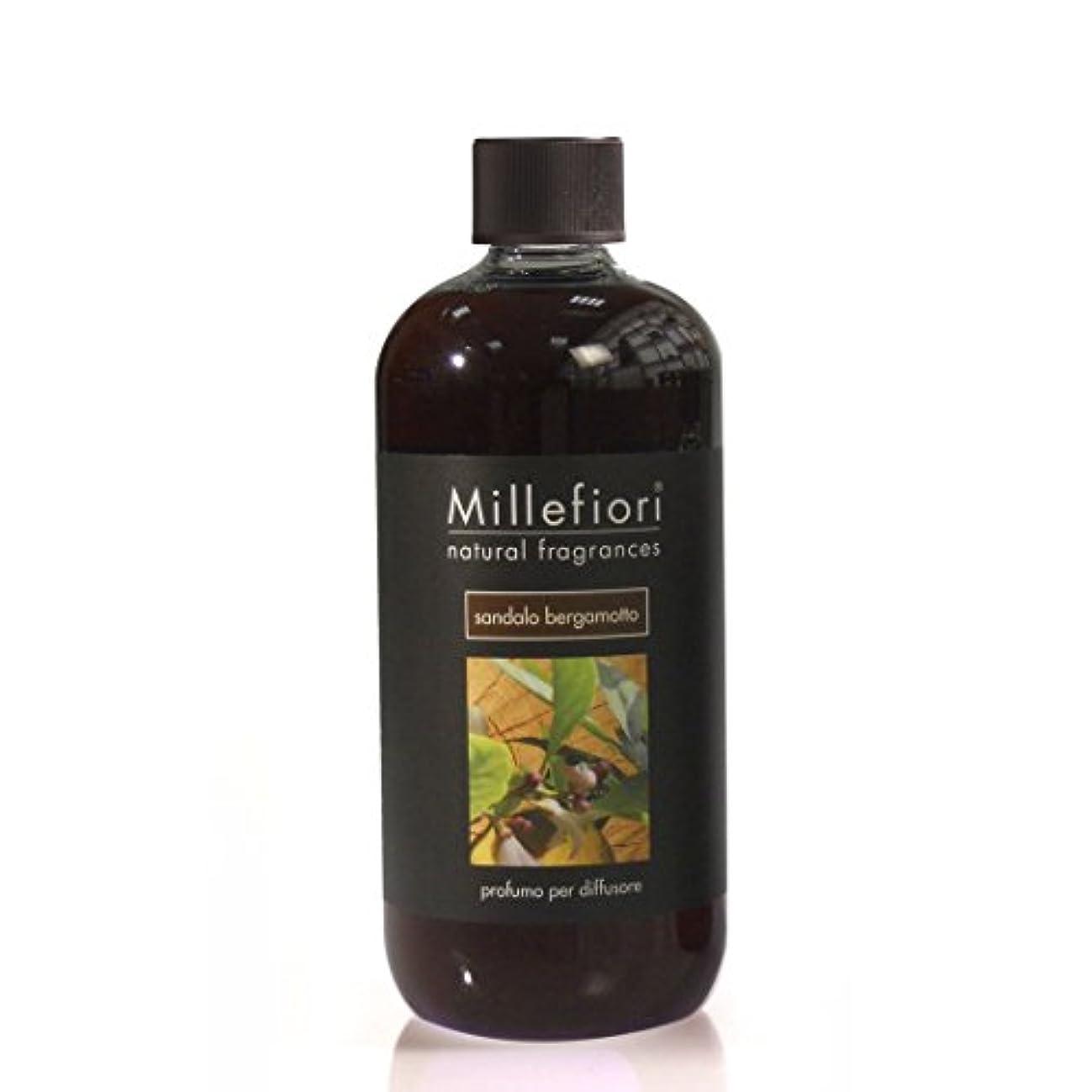 毛布ダンプ辛なミッレフィオーリ Natural Fragrance Diffuser Refill - Sandalo Bergamotto 500ml/16.7oz並行輸入品
