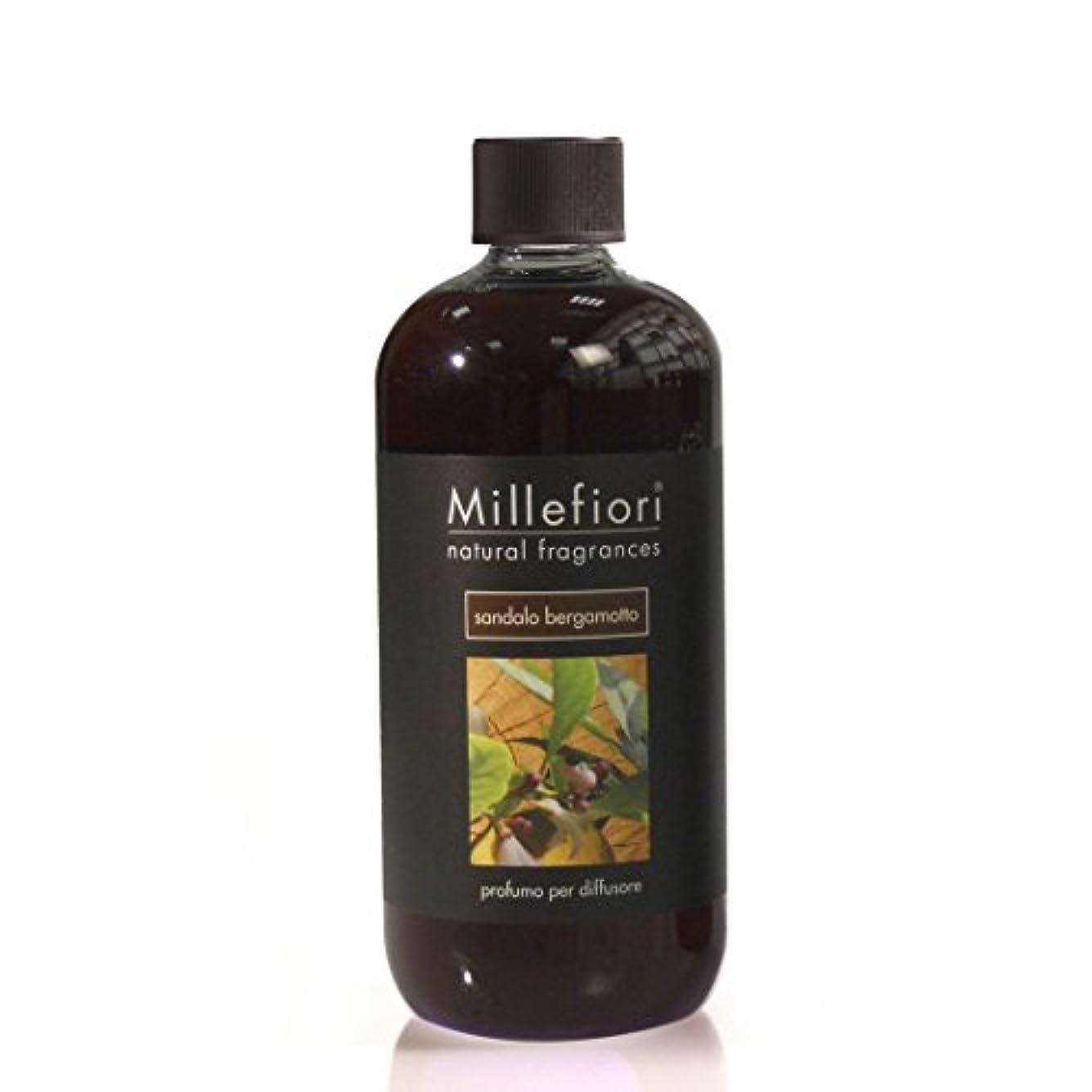 四半期摘むゆるくミッレフィオーリ Natural Fragrance Diffuser Refill - Sandalo Bergamotto 500ml/16.7oz並行輸入品