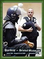 ポスター バンクシー banksy bristol museum poster 額装品 ウッドベーシックフレーム(グリーン)