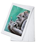 ゴリラinspectingバタフライon指 Cotton Towel LANT-84893-TL