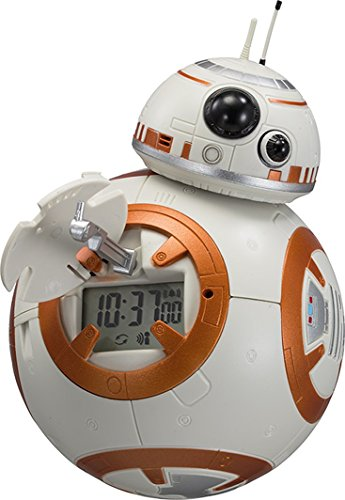 リズム時計 STAR WARS ( スターウォーズ ) BB-8 音声 ・ アクション 目覚まし 時計 オレンジ 8RDA74MC03
