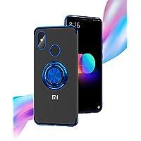 【M&Y】Xiaomi Mi 8 ケース Xiaomi Mi 8 背面ケース ストラップホール ホールドリング付き 車載ホルダー対応 Xiaomi Mi 8 クリアケース 「全2色」MY-Mi8-NK-80605 (ブラック)