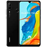 Huawei P30 Lite Smartphone, Dual-SIM Android Mobile Phone with 6.15Inch FHD Dewdrop Display, Ultra-wide Rear Triple Camera, 4GB RAM+128GB ROM, Midnight Black - Australian Version