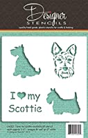 I Love My Scottie Cookie and Craft Stencil CM021 by Designer Stencils