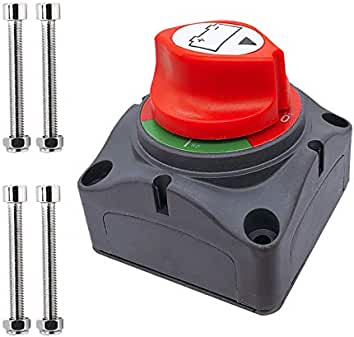 KESOTO 12V Car Auto Vehicle MotorBoat Battery Electromagnetic Disconnect Switch One Button Dash Control Master Kill System Turn on//off