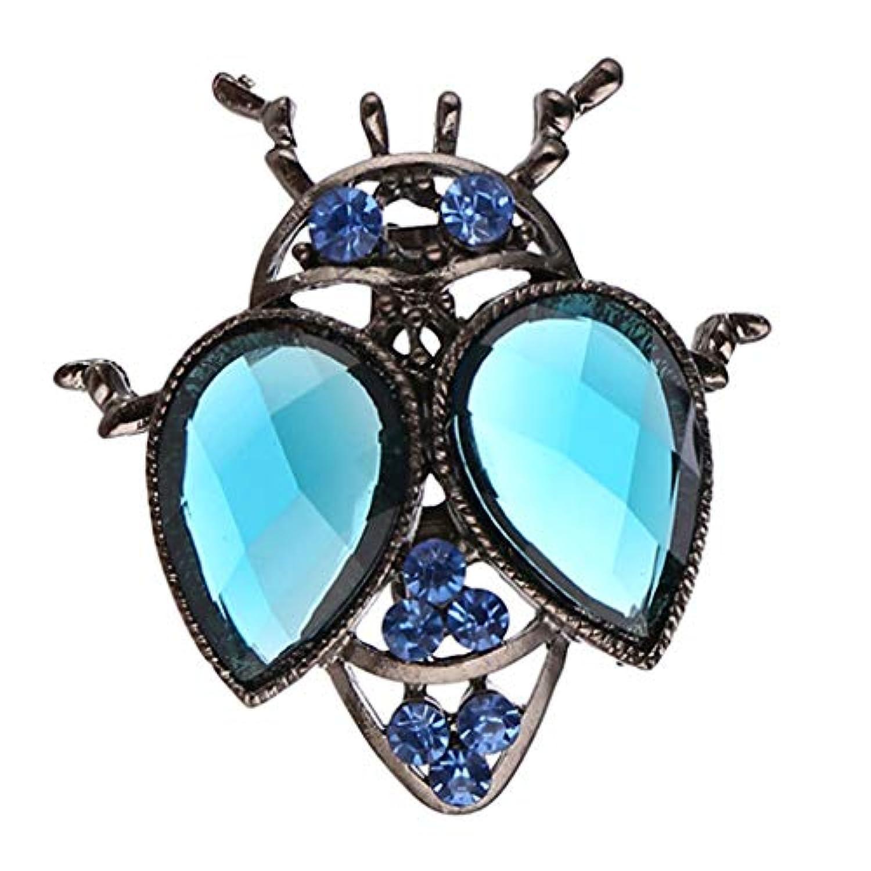 Hellery 昆虫デザイン ブローチ 女性 昆虫ブローチ クリスタル付き ピカピカ ファッション