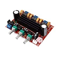 Saikogoods XH-M139 DC12V - DC24V 50W + 50W + 100W 2.1 3チャンネルのデジタルサブウーファーTPA3116D2アンプパワーアンプボードD3-005 赤
