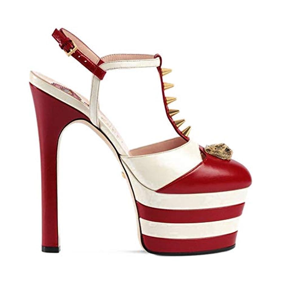 書き込みメディックパステル2018年女性のハイヒールのサンダル2019新しいスティレットシューズナイトクラブファッションセクシーなプラットフォームの靴リベット靴ヨーロッパアメリカ,A,36