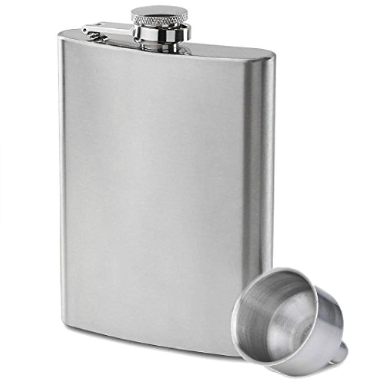 Outfun スキットル 8oz 220ml 携帯スキットルウイスキー 清酒ボトル ヒップ フラスコ ステンレス キャンプ用品