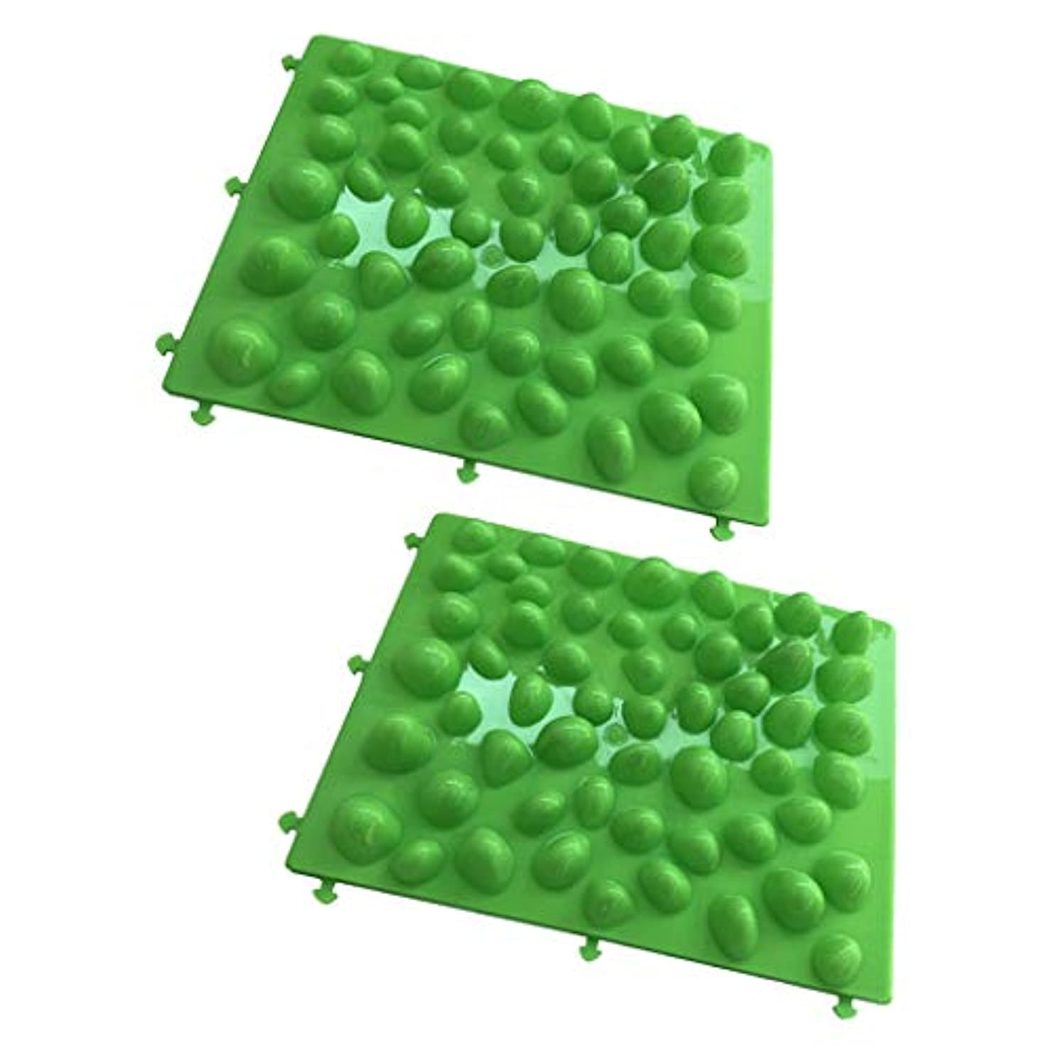 ふける推測する反動足つぼマット 足のマッサージパッド フットマッサージマット 人工石 血行促進 ストレス解消 2個入