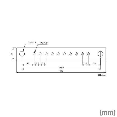 春日電機 TS 21 分岐用銅バー TS200R用 (10本入) NN