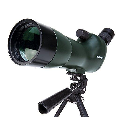 USCAMEL®鳥類観察用 防水 観察範囲20-60x60ズーム単眼望遠鏡 撮影用カメラと三脚脚立に接続できます。