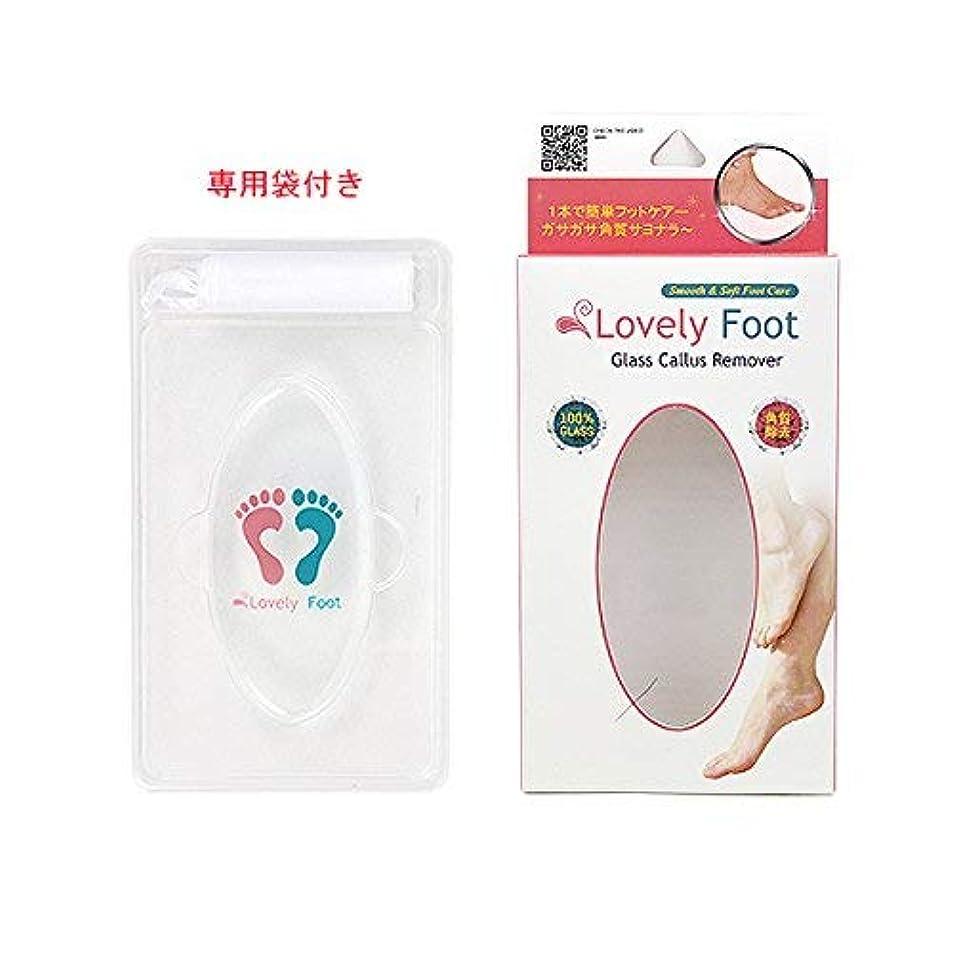 四半期財団配置Lovely Foot Glass Callus Remover (ガラス角質取り)