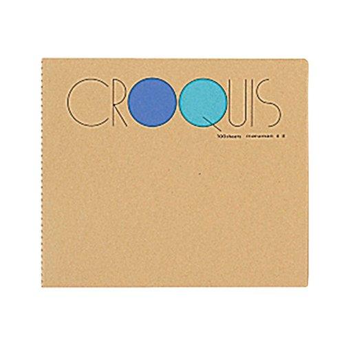 クロッキーブック 小 100枚 ブルー SS-02 3冊
