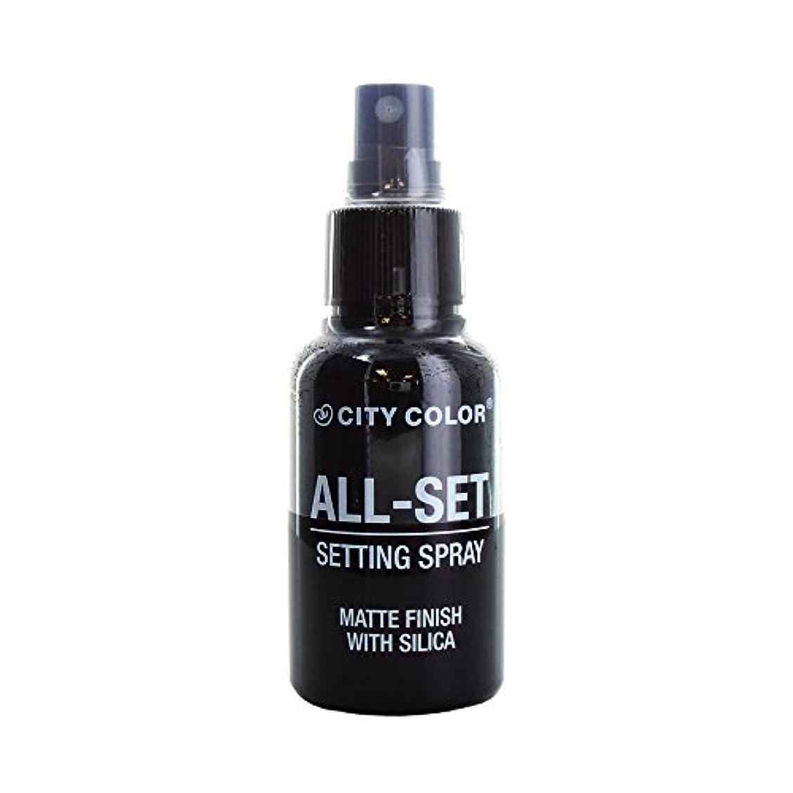 乗って納屋ライン(3 Pack) CITY COLOR All-Set Setting Spray (並行輸入品)