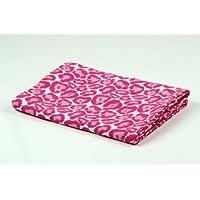 Bacati Ikat Pink Leopard One Swaddling Muslin Blankets by Bacati
