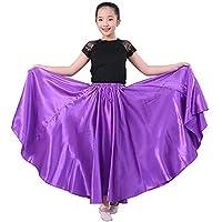 SANCAN Girls Children Dance Performance Skirt for Belly Practise Halloween Cosplay Costume Long Length