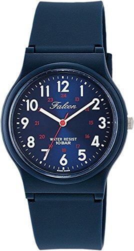 [シチズン キューアンドキュー]CITIZEN Q&Q 腕時計 Falcon ファルコン アナログ表示 10気圧防水 ウレタンベルト メタリックブルー VS04-002