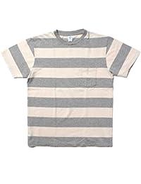 (ベルバシーン) Velva Sheen WIDE BORDER S/S CREW NECK POCKET TEE ボーダーTシャツ