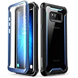 Samsung Galaxy S8+ Plus case, i-Blason [Ares] Full-Body Rugged Clear Bumper Case with Built-in Screen Protector for Samsung G