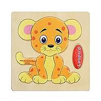goupgolboll-カラフルな木製パズル動物教育発達赤ちゃんキッズトレーニング玩具 - 4#