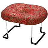 住友産業 コンパクト らくらく正座椅子LE 折りたたみ式 座えくぼ 赤金