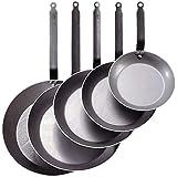 De Buyer 5110.20 Carbone Plus Heavy Quality Steel Round Lyonnaise Frying Pan, 20 cm Diameter