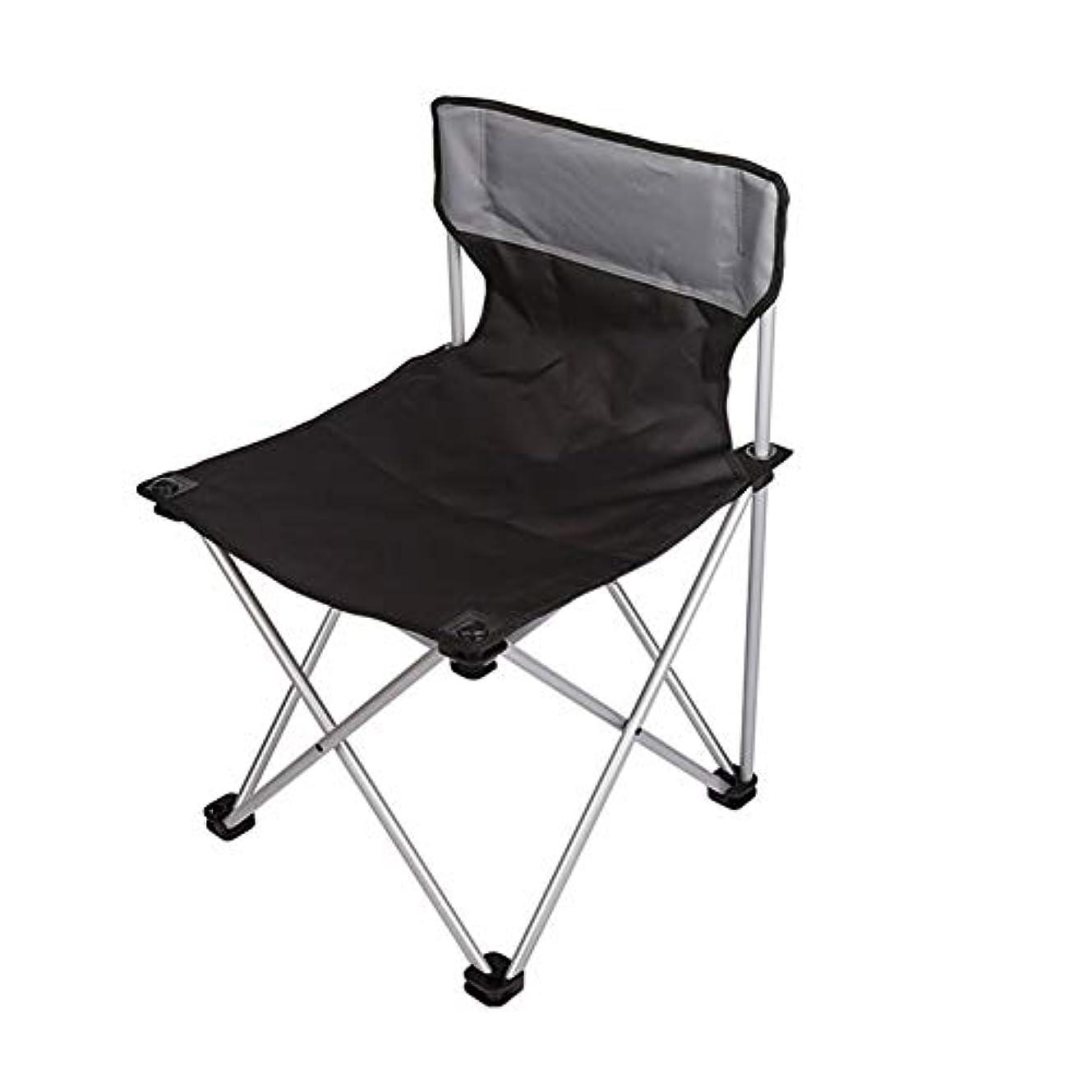 ローン良性三コンパクトキャンプチェア超軽量ポータブル折りたたみバックパッキングチェア - アウトドアキャンプ、旅行、ビーチ、ピクニック、フェスティバル、ハイキングシート (Color : Black)
