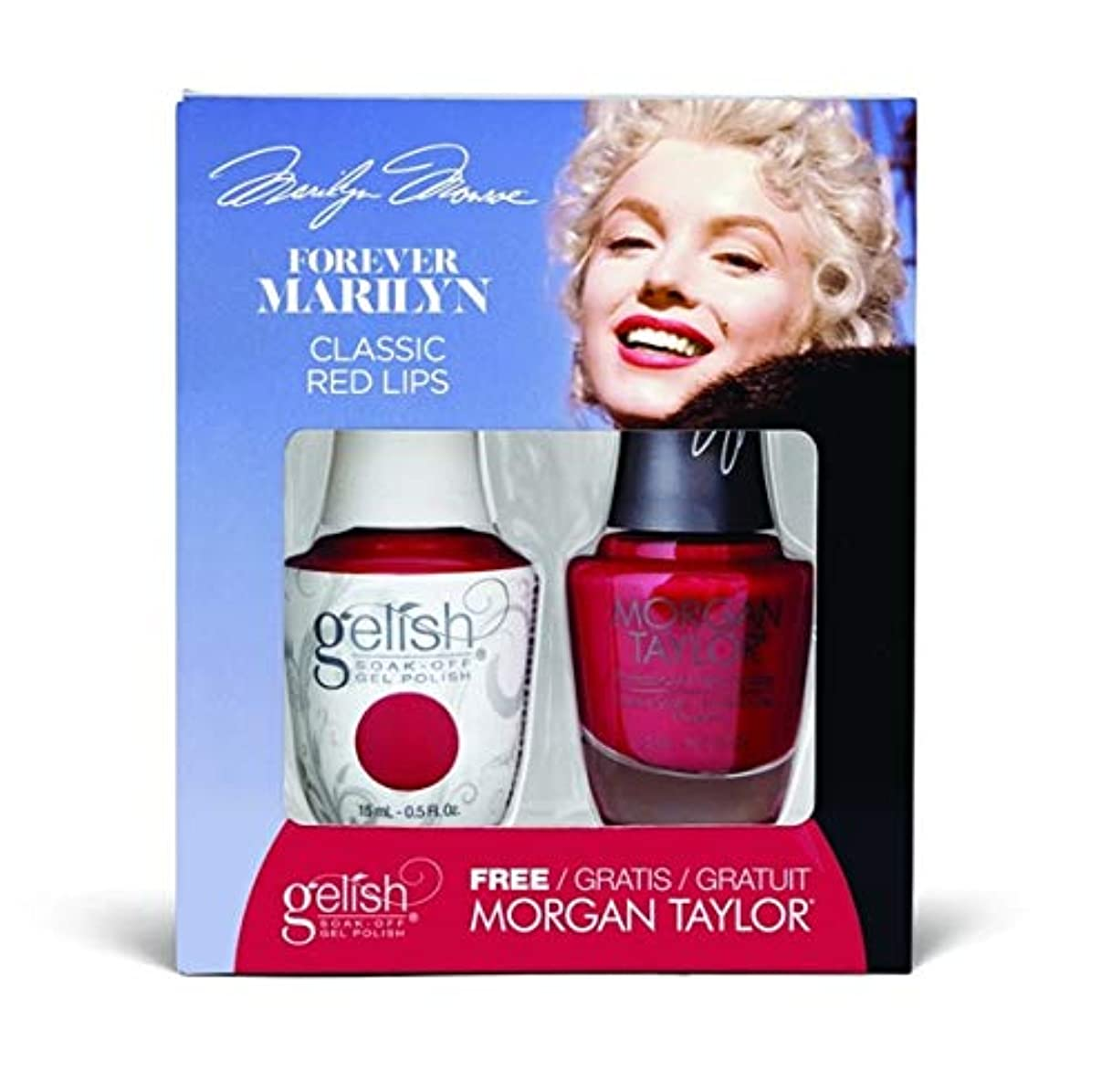 近く未満ハウスHarmony Gelish - Two of a Kind - Forever Marilyn Fall 2019 Collection - Classis Red Lips - 15ml / 0.5oz