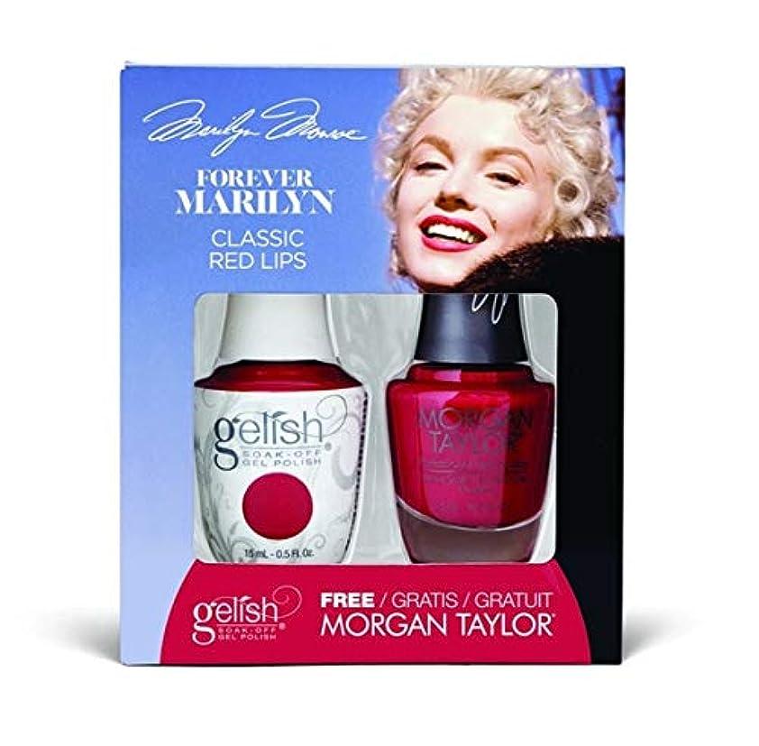 不注意輸血成果Harmony Gelish - Two of a Kind - Forever Marilyn Fall 2019 Collection - Classis Red Lips - 15ml / 0.5oz