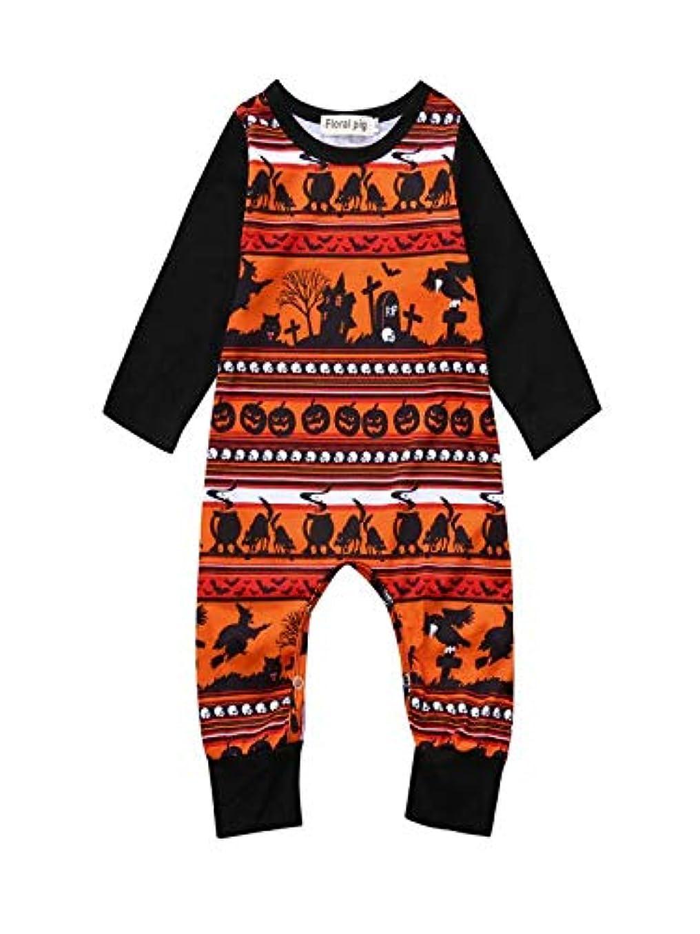 不適切な嫉妬バズTovadoo ハロウィーン衣装女の子用男の子用、幼児用ベビー漫画プリントロンパースジャンプスーツハロウィンコスチュームセット