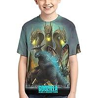 SUNERLADY Godzilla Boys and Girls Short Sleeve T-Shirt Teenager Tee Shirts