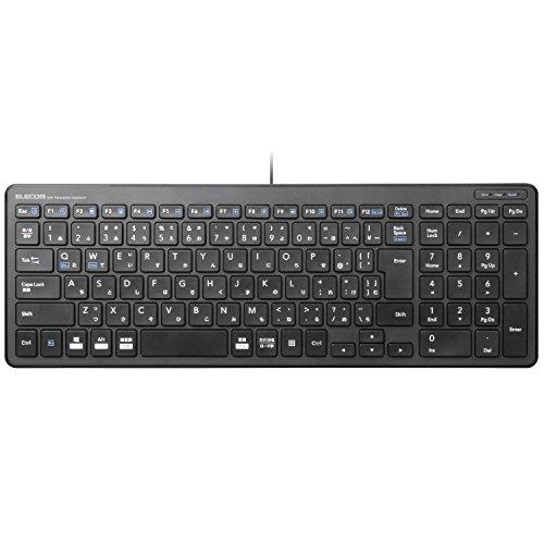 エレコム 有線コンパクトキーボード パンタグラフ式 薄型 ブラック TK-FCP097BK 1個