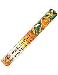 【HEM/ヘム】《バニラ?オレンジ》へキサパック/インド/お香/インセンス/スティック/6角(20本入)×1箱
