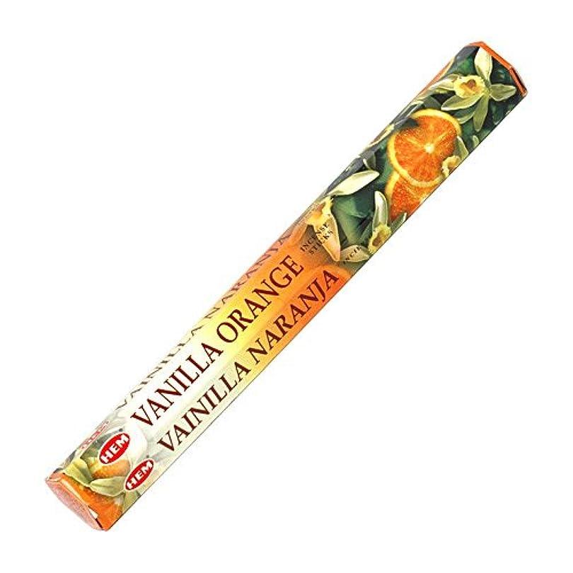 酸例外顔料【HEM/ヘム】《バニラ?オレンジ》へキサパック/インド/お香/インセンス/スティック/6角(20本入)×1箱