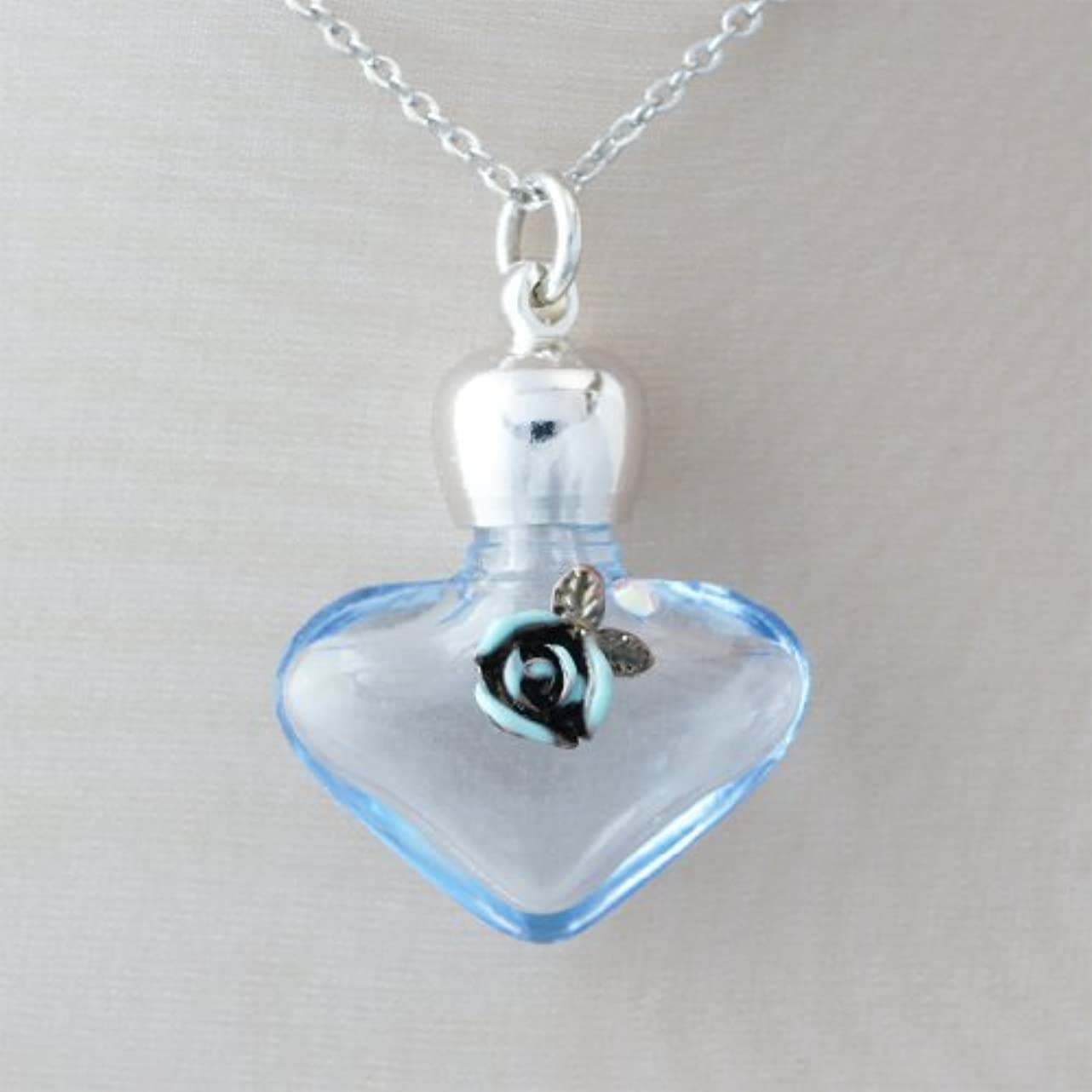 ディプロマ代表するよろめく【天使の小瓶】 ハートローズ (ブルー)