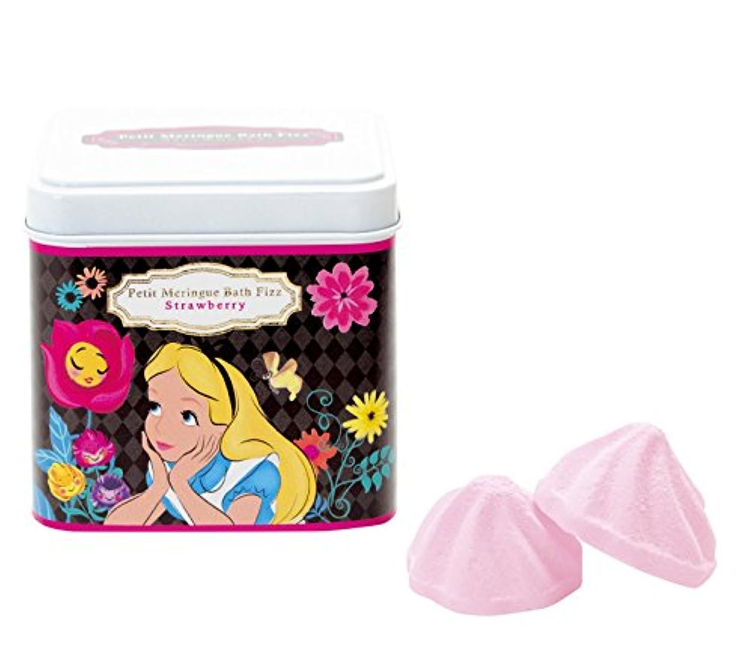 おじさん航空会社くしゃみディズニー 入浴剤 バスフィズ ふしぎの国のアリス ストロベリーの香り 135g DIP-86-01