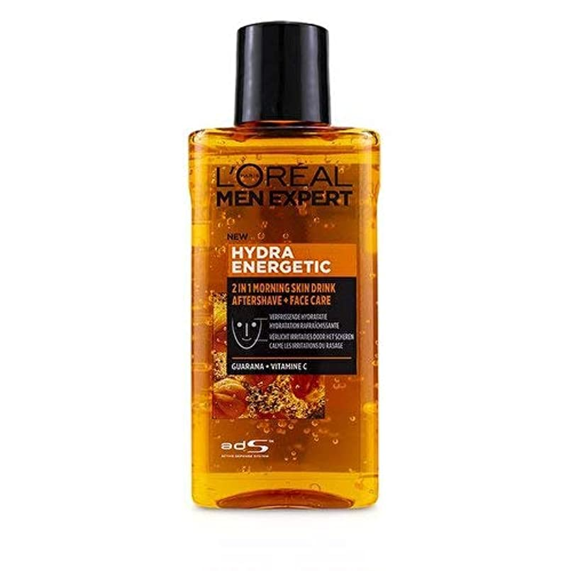 農場ロバ悪魔ロレアル Men Expert Hydra Energetic 2-In-1 Aftershave + Facecare 125ml/4.2oz並行輸入品