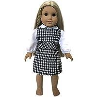 Glamerup : Sarah – ホワイトandブラックチェック衣装セット – Sized for Most 18インチ人形